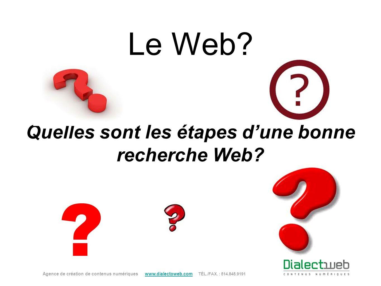 Quelles sont les étapes d'une bonne recherche Web