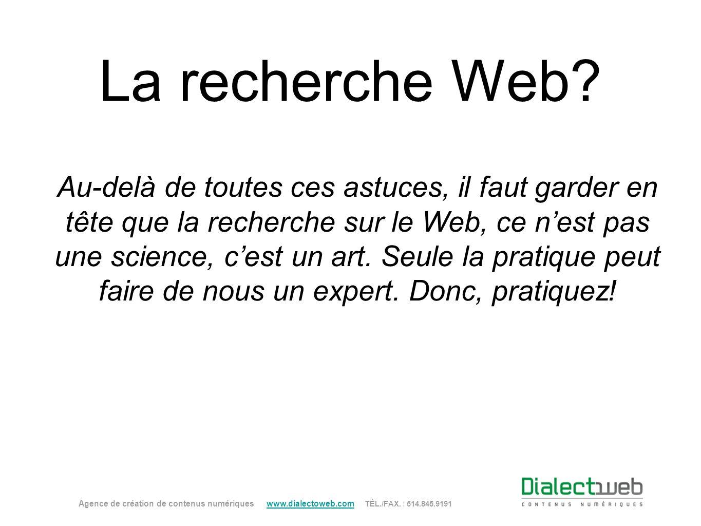 La recherche Web