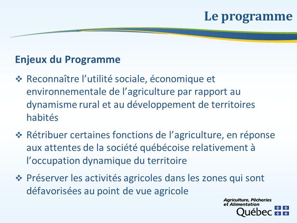 Le programme Enjeux du Programme