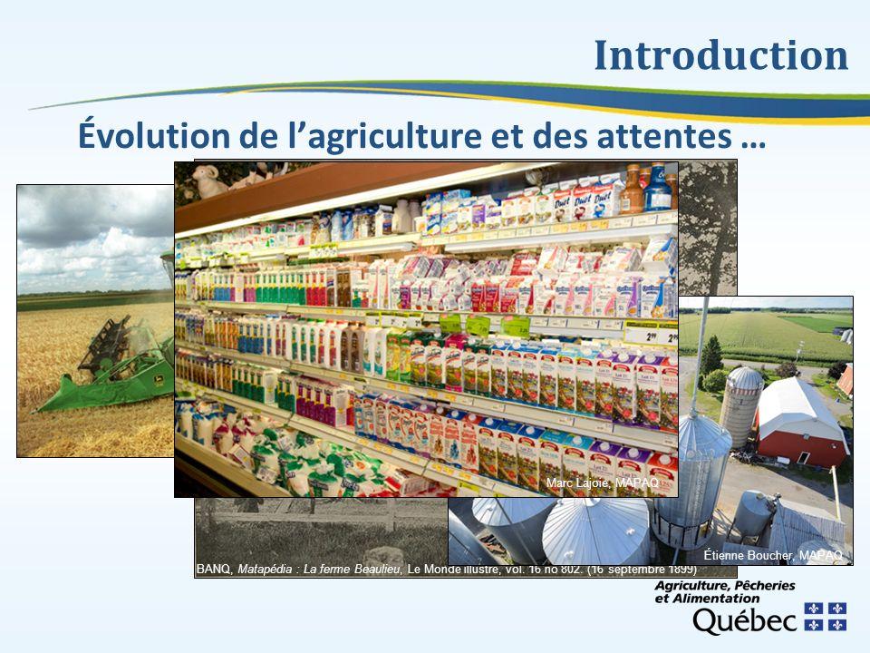 Introduction Évolution de l'agriculture et des attentes …