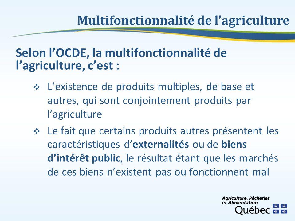 Multifonctionnalité de l'agriculture