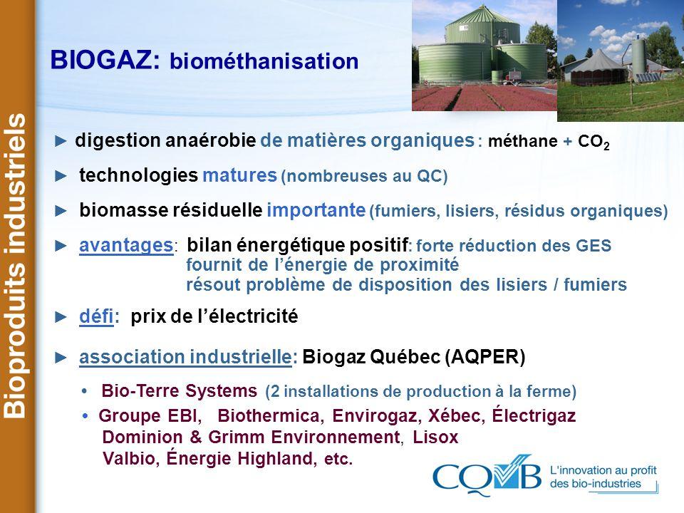 BIOGAZ: biométhanisation