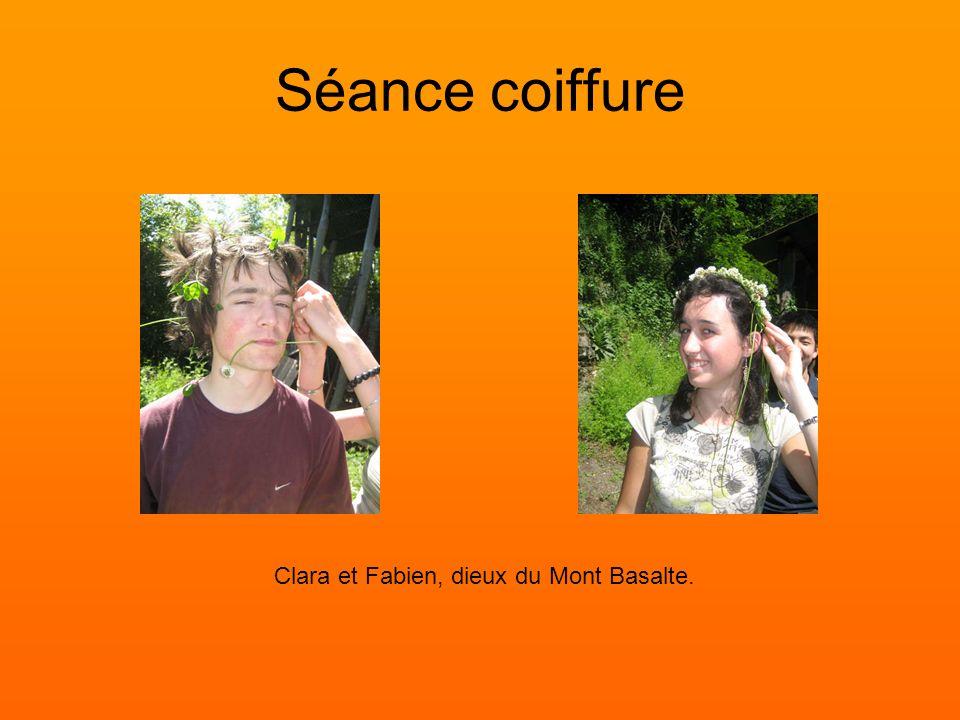 Séance coiffure Clara et Fabien, dieux du Mont Basalte.