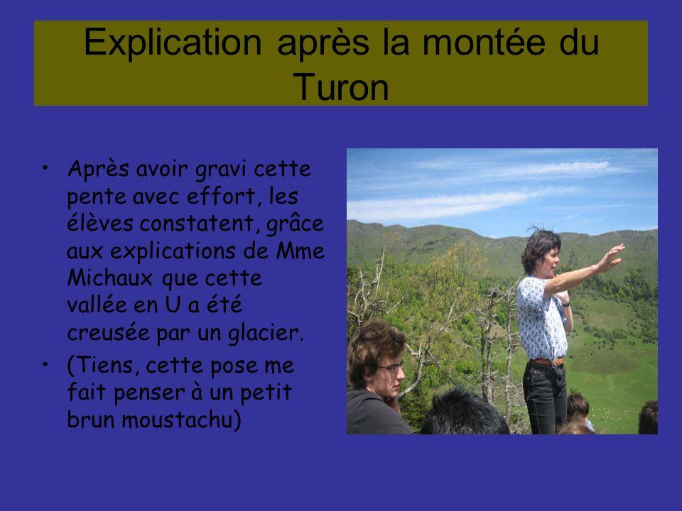 Explication après la montée du Turon