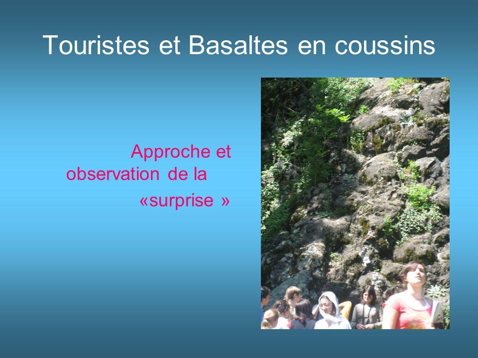 Touristes et Basaltes en coussins