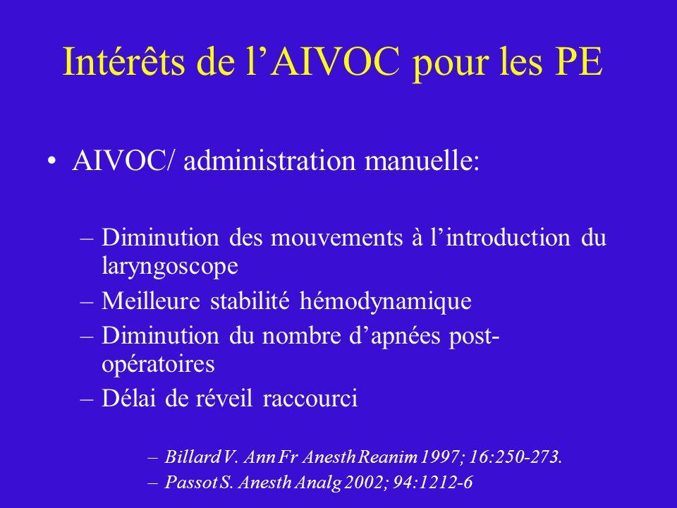 Intérêts de l'AIVOC pour les PE