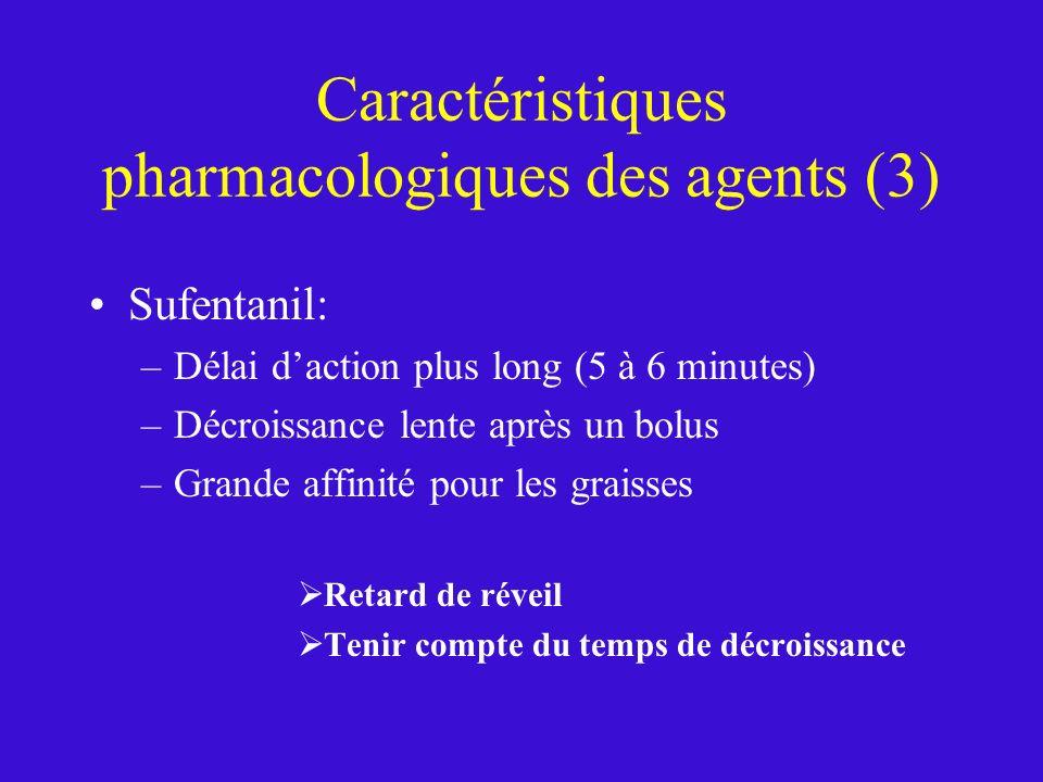Caractéristiques pharmacologiques des agents (3)