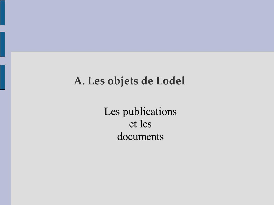 Les publications et les documents