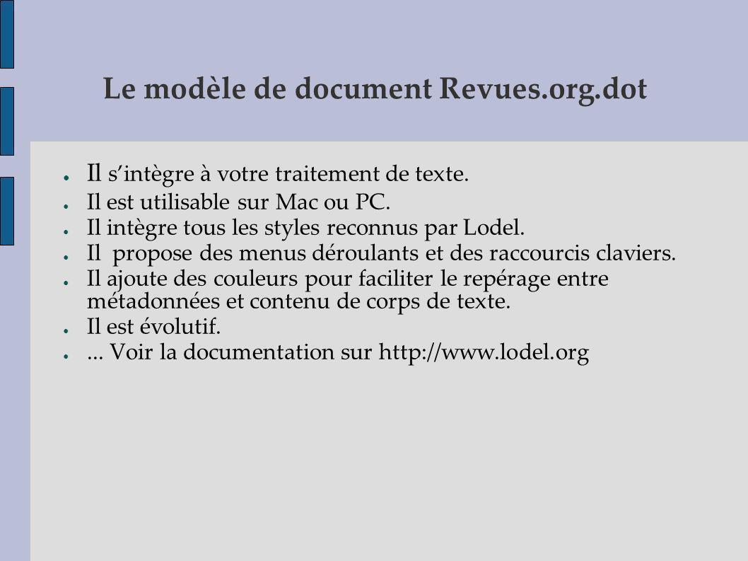 Le modèle de document Revues.org.dot