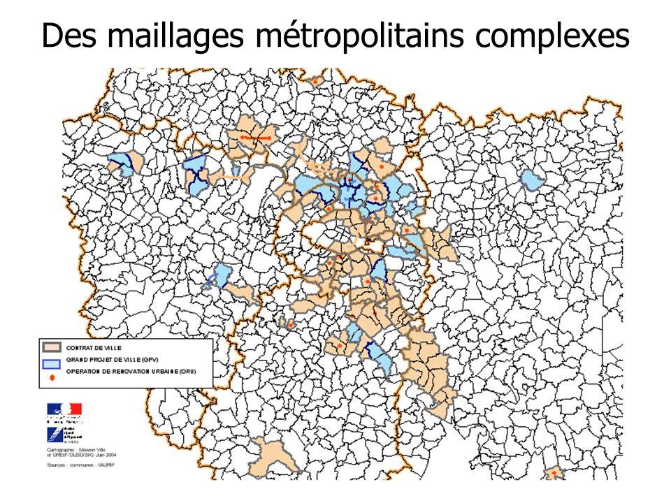 Des maillages métropolitains complexes