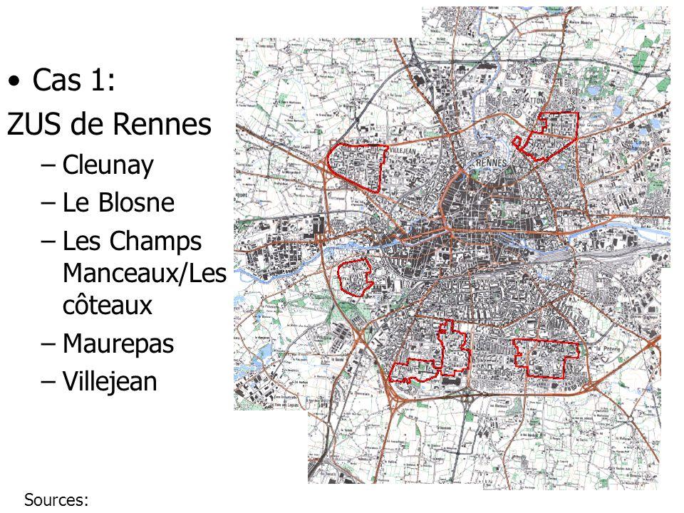 Cas 1: ZUS de Rennes Cleunay Le Blosne Les Champs Manceaux/Les côteaux