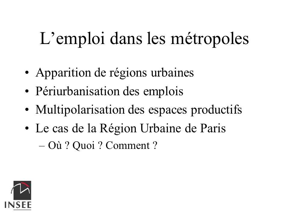 L'emploi dans les métropoles