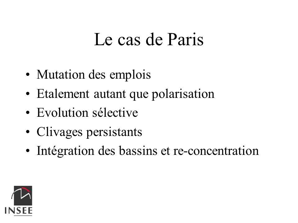 Le cas de Paris Mutation des emplois Etalement autant que polarisation