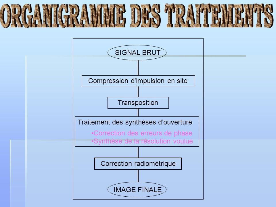 ORGANIGRAMME DES TRAITEMENTS