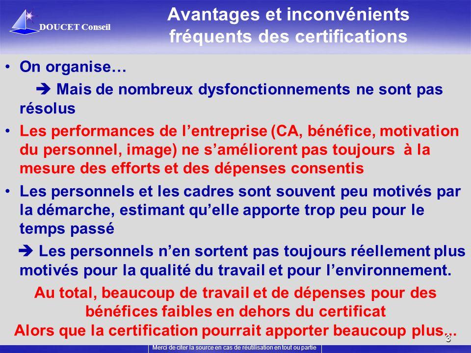 Avantages et inconvénients fréquents des certifications
