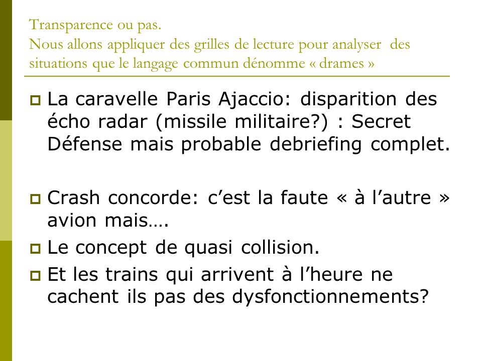 Crash concorde: c'est la faute « à l'autre » avion mais….