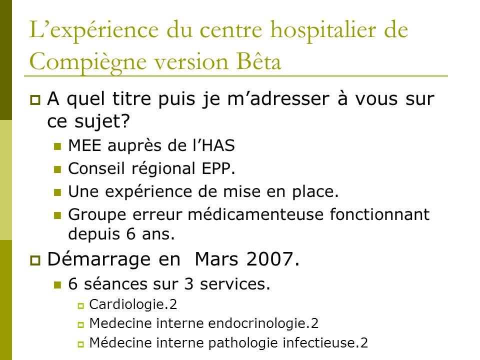 L'expérience du centre hospitalier de Compiègne version Bêta