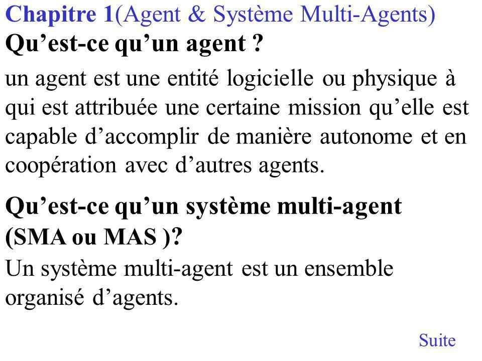 Qu'est-ce qu'un système multi-agent (SMA ou MAS )