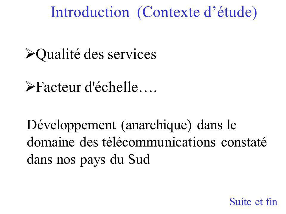 Introduction (Contexte d'étude)