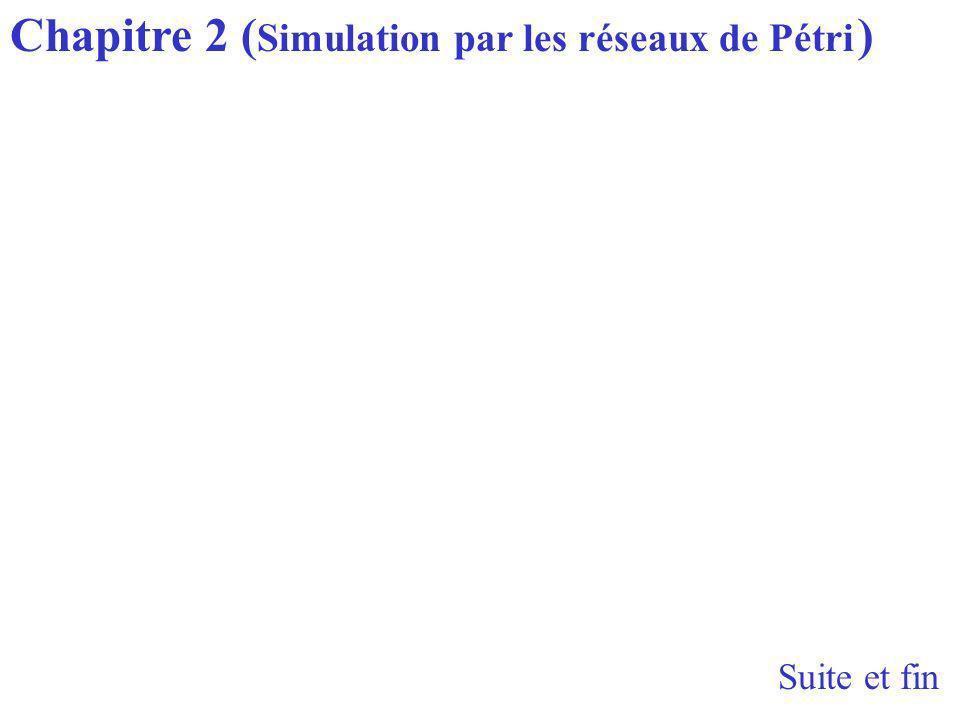 Chapitre 2 (Simulation par les réseaux de Pétri )