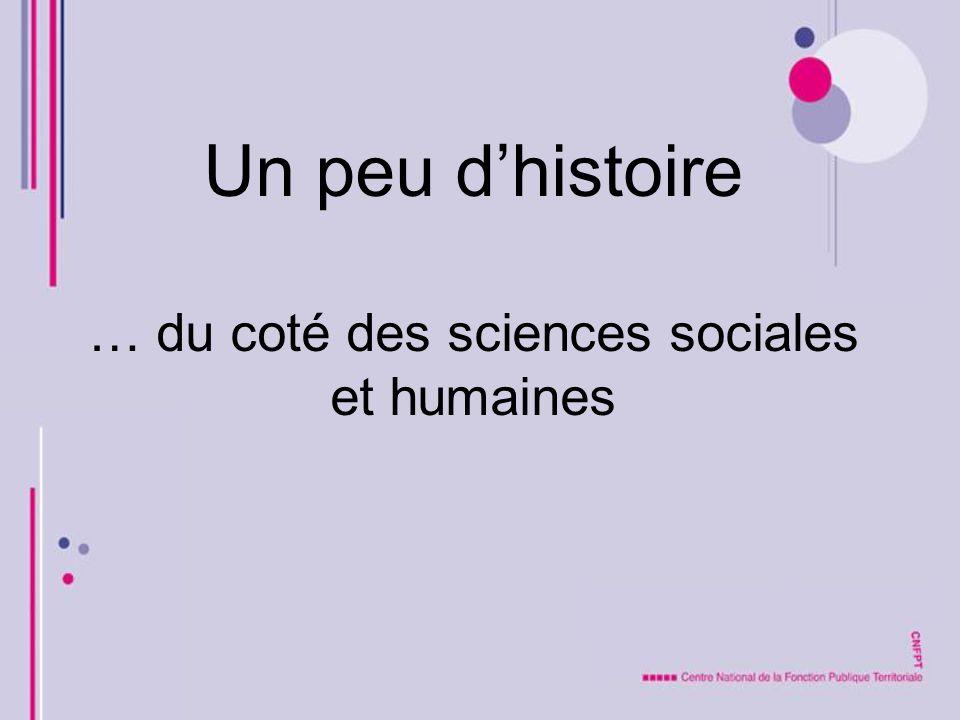 Un peu d'histoire … du coté des sciences sociales et humaines