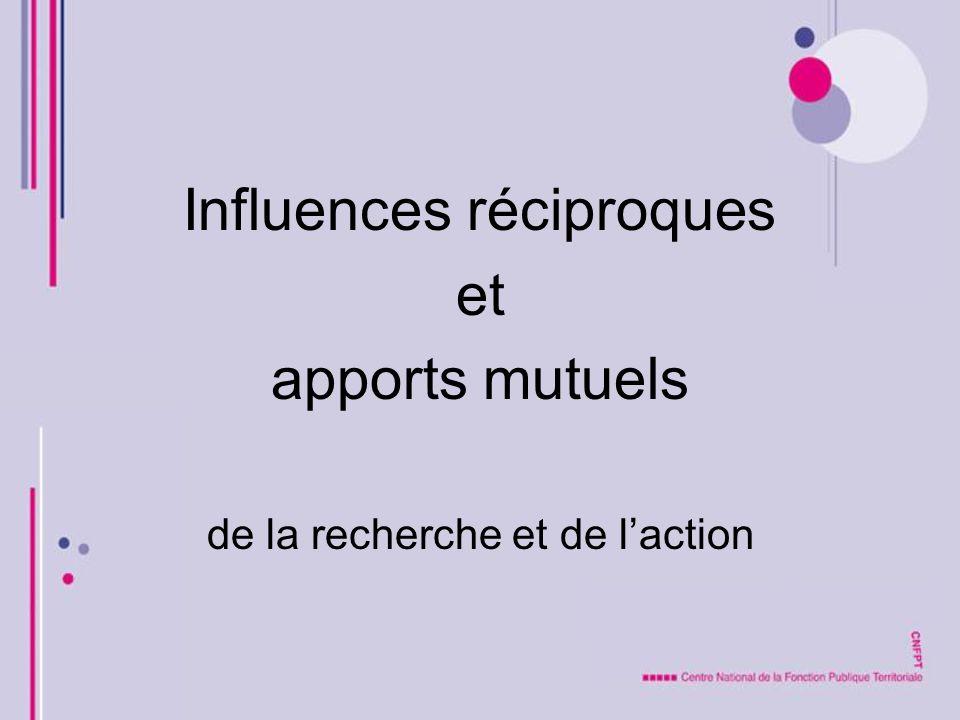Influences réciproques et apports mutuels