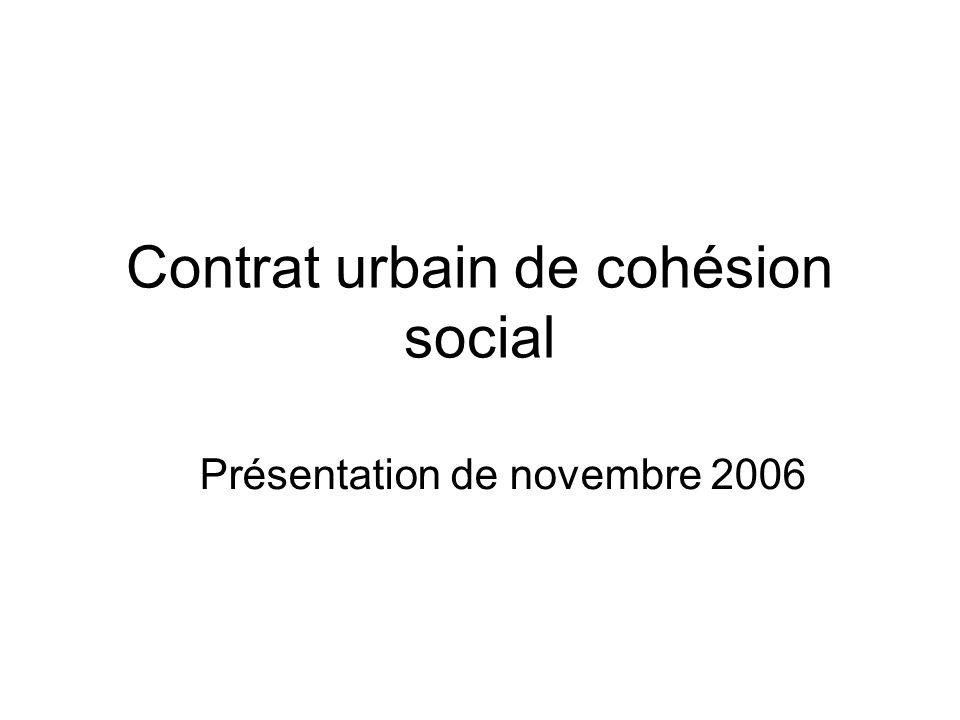 Contrat urbain de cohésion social