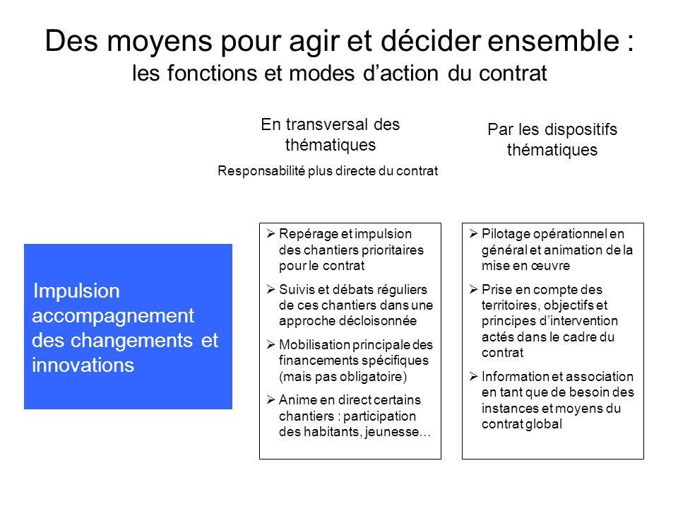 Des moyens pour agir et décider ensemble : les fonctions et modes d'action du contrat