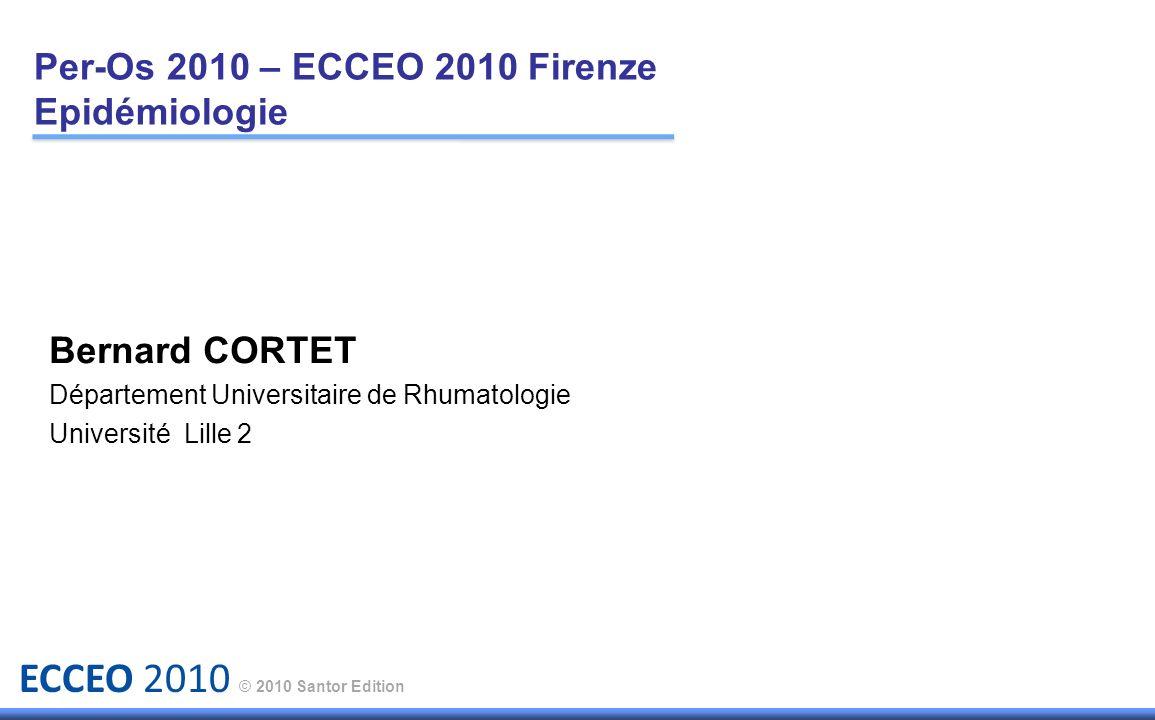 Per-Os 2010 – ECCEO 2010 Firenze Epidémiologie