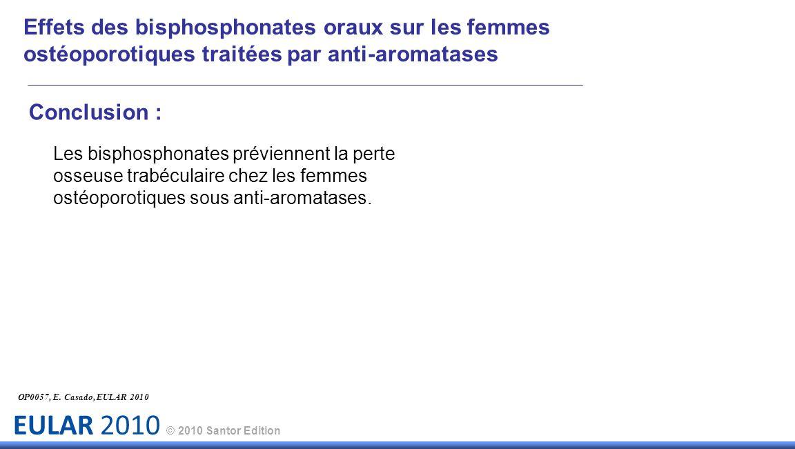 Effets des bisphosphonates oraux sur les femmes ostéoporotiques traitées par anti-aromatases