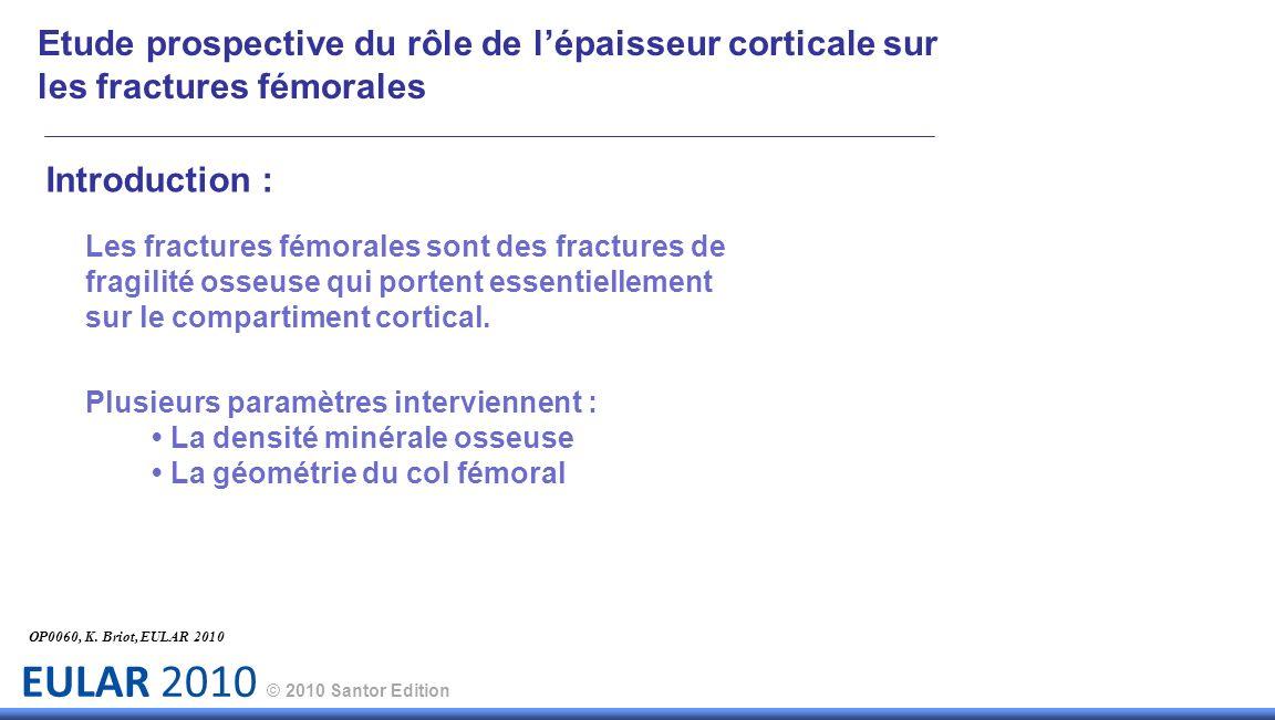 Etude prospective du rôle de l'épaisseur corticale sur les fractures fémorales