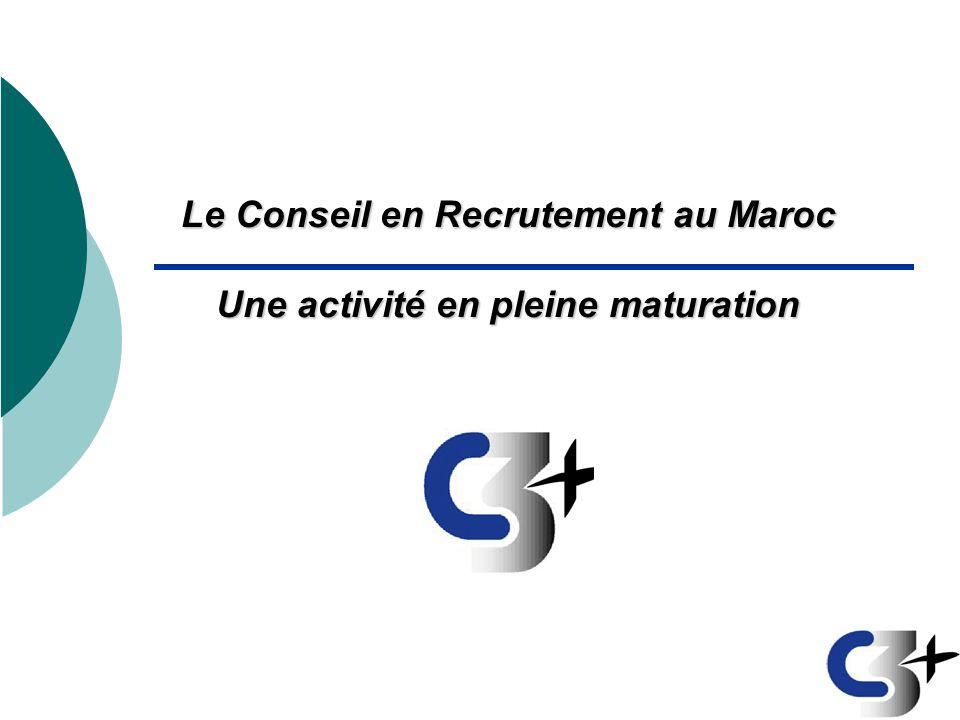 Le Conseil en Recrutement au Maroc Une activité en pleine maturation