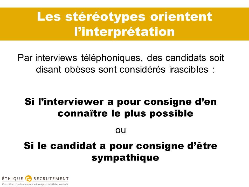 Les stéréotypes orientent l'interprétation