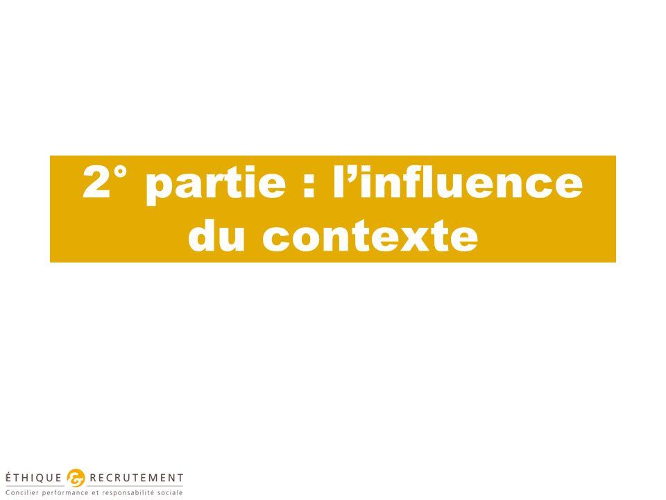 2° partie : l'influence du contexte