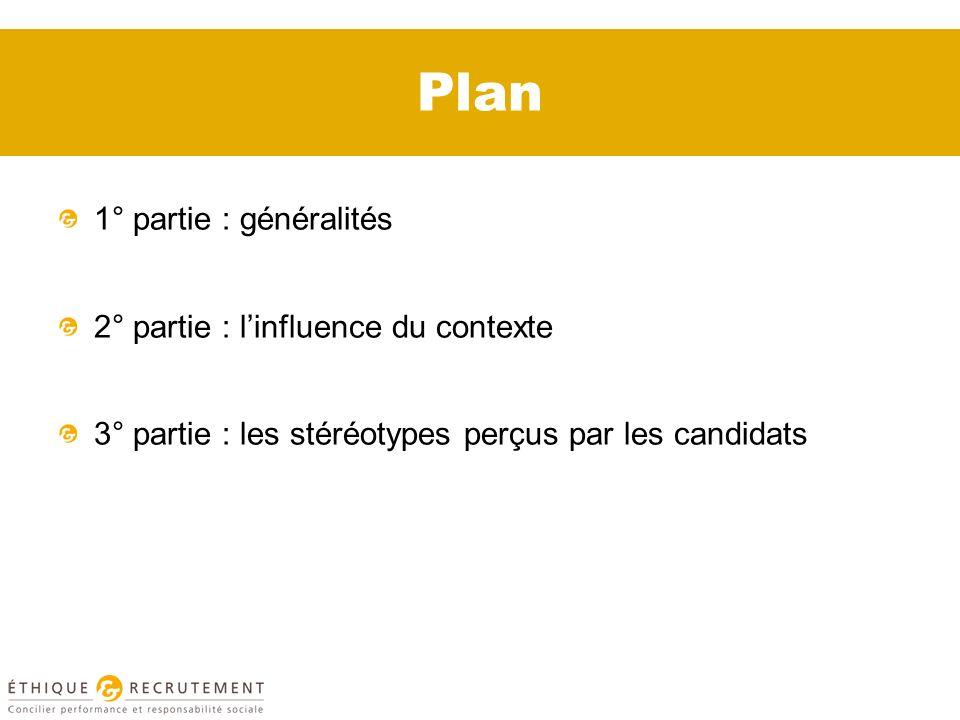 Plan 1° partie : généralités 2° partie : l'influence du contexte
