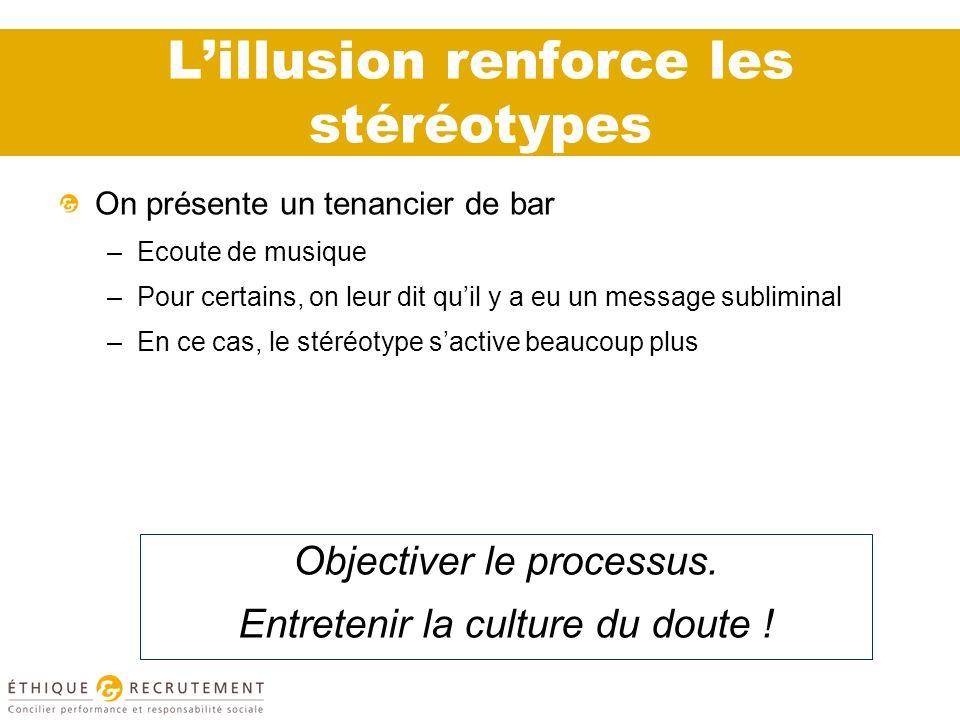 L'illusion renforce les stéréotypes