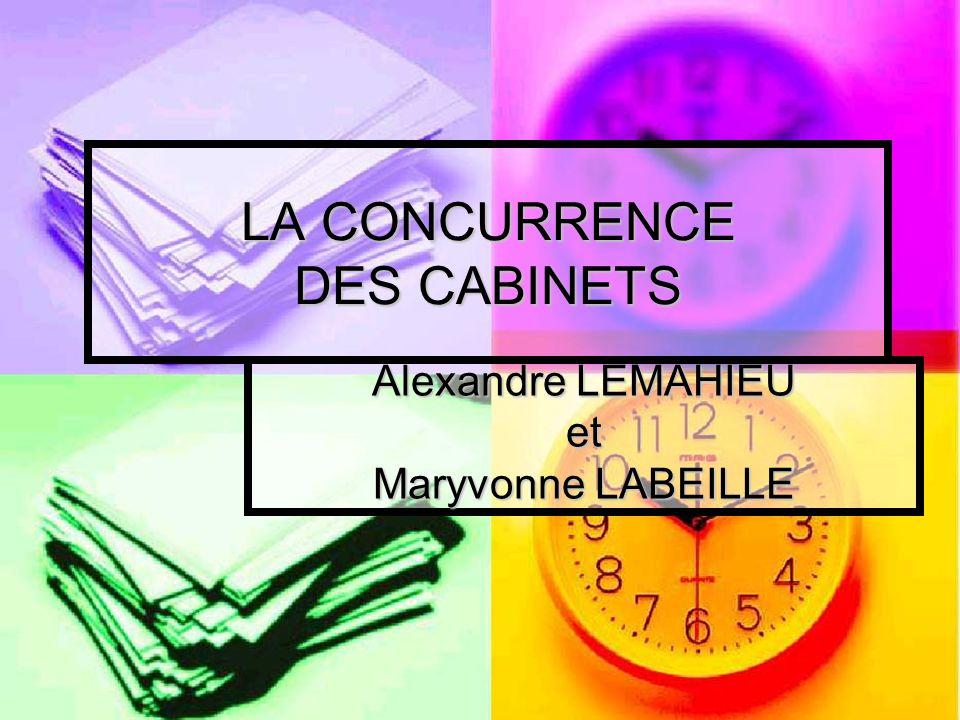 LA CONCURRENCE DES CABINETS