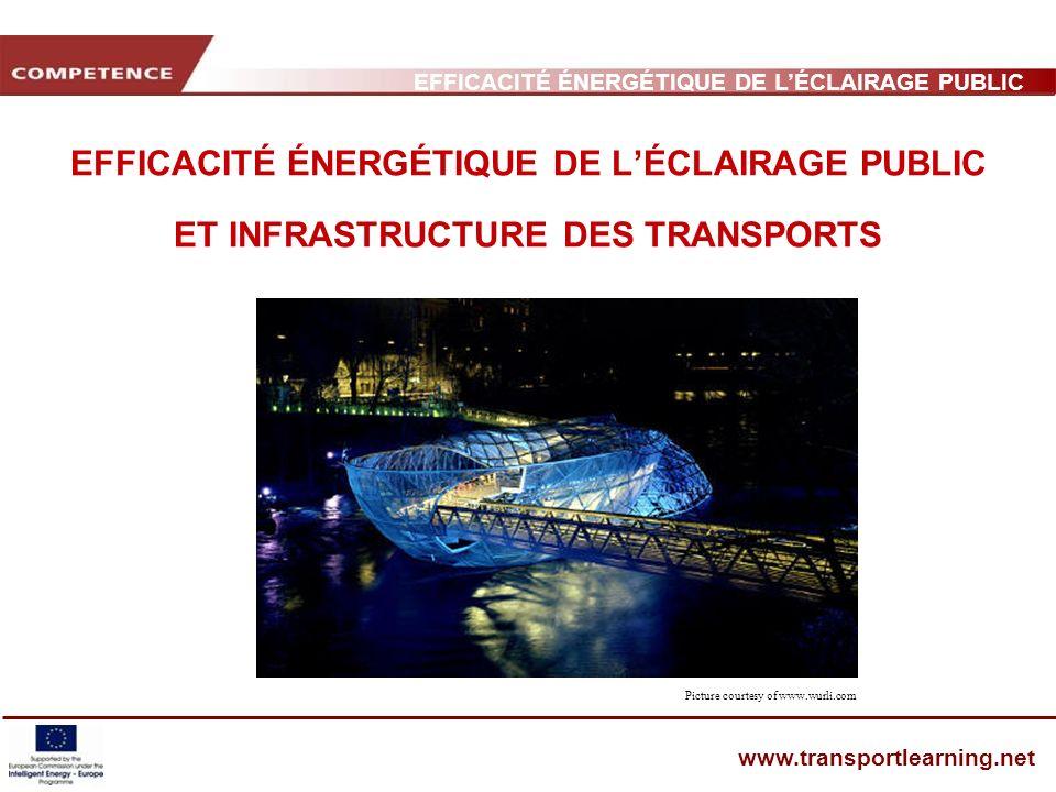 EFFICACITÉ ÉNERGÉTIQUE DE L'ÉCLAIRAGE PUBLIC ET INFRASTRUCTURE DES TRANSPORTS