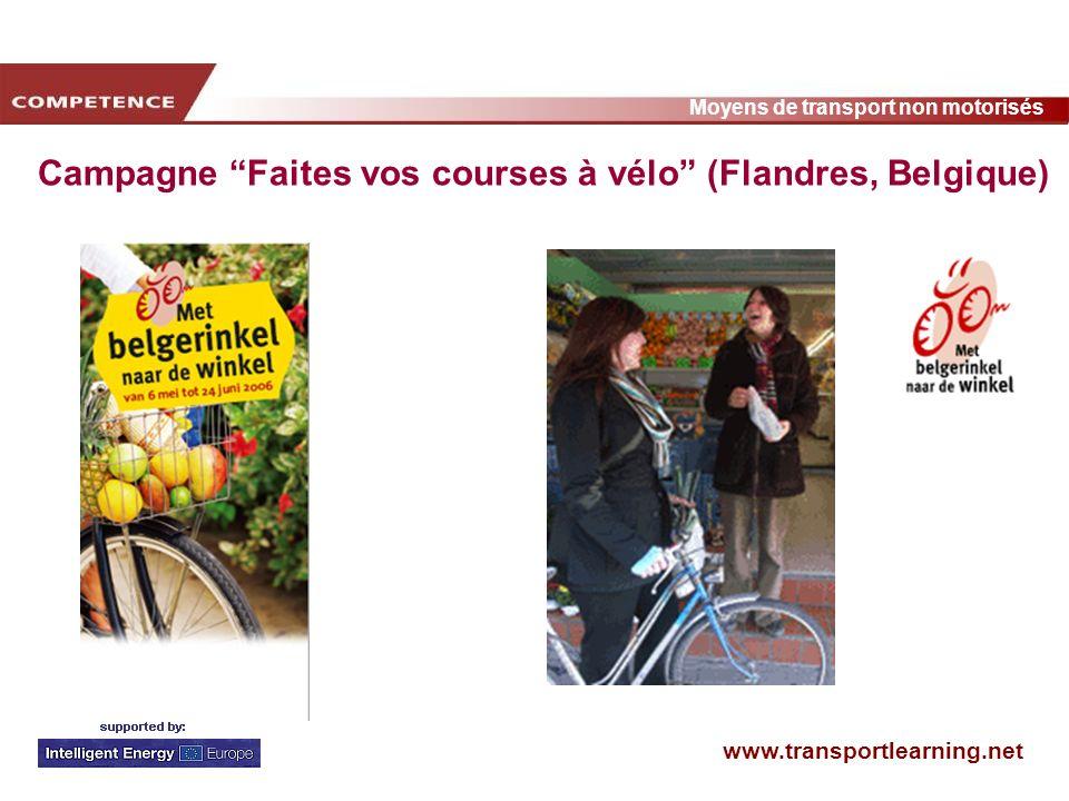 Campagne Faites vos courses à vélo (Flandres, Belgique)