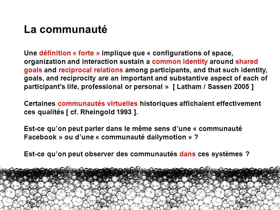 II – Communauté La communauté.