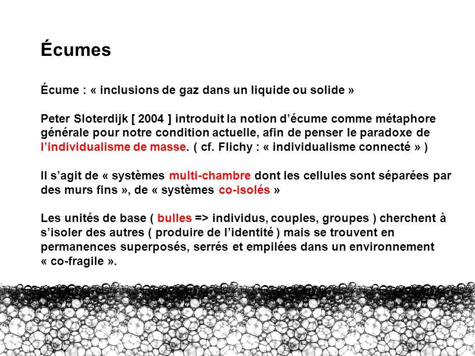 Écumes Écume : « inclusions de gaz dans un liquide ou solide »