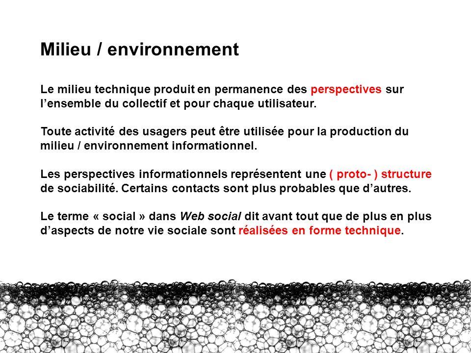 Milieu / environnement