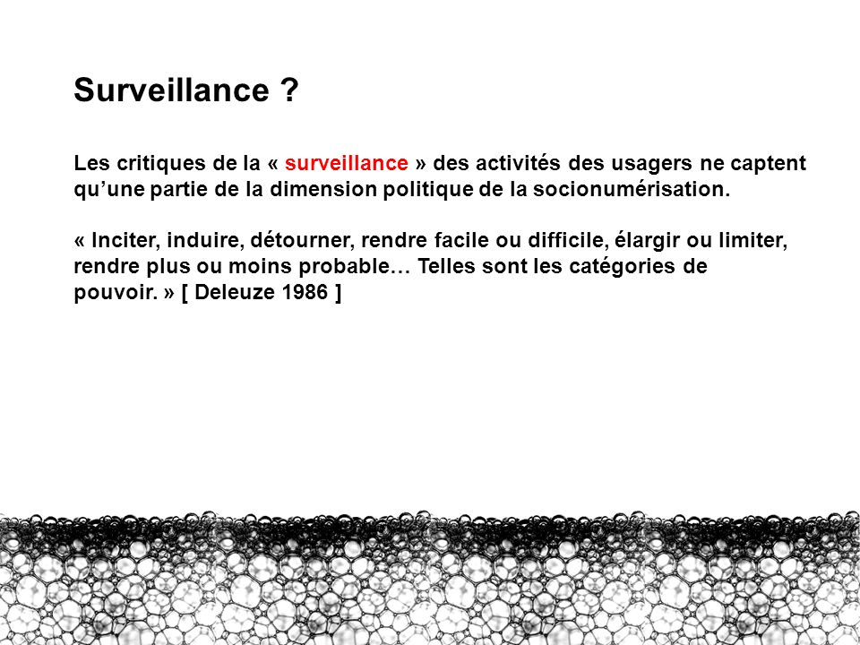 III – Surveillance Surveillance