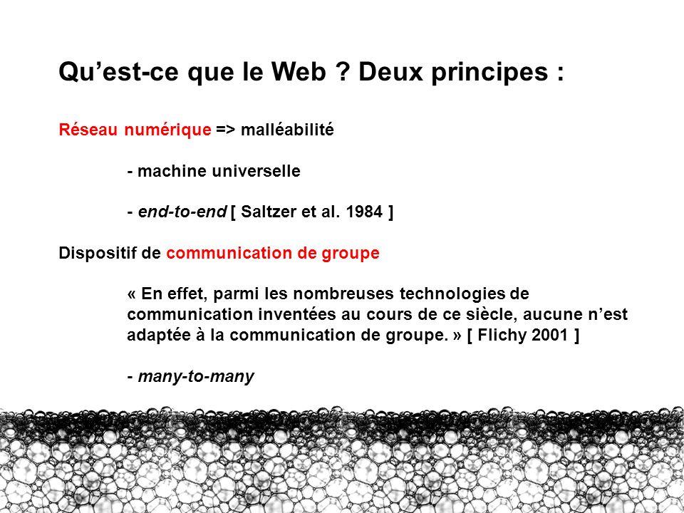 Qu'est-ce que le Web Deux principes :
