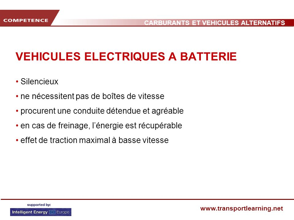 VEHICULES ELECTRIQUES A BATTERIE