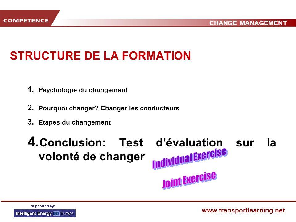 STRUCTURE DE LA FORMATION