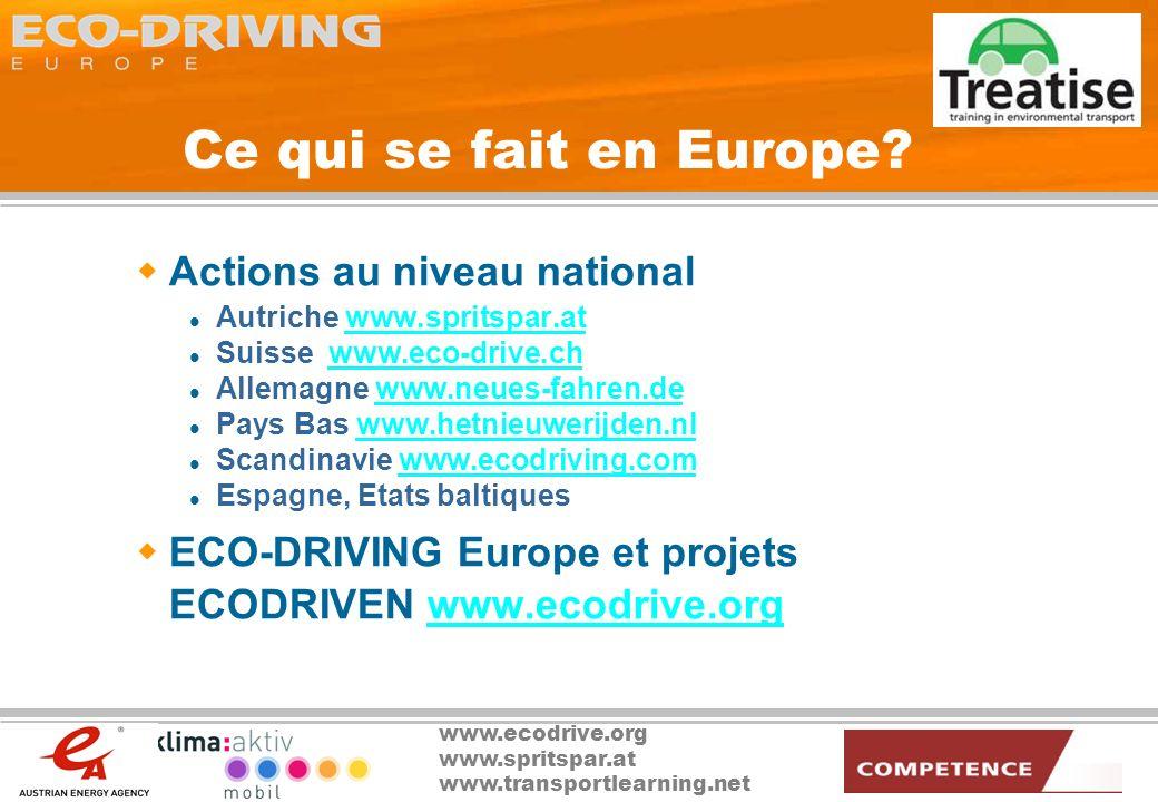 Ce qui se fait en Europe Actions au niveau national