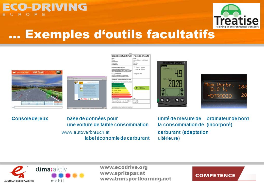 ... Exemples d'outils facultatifs