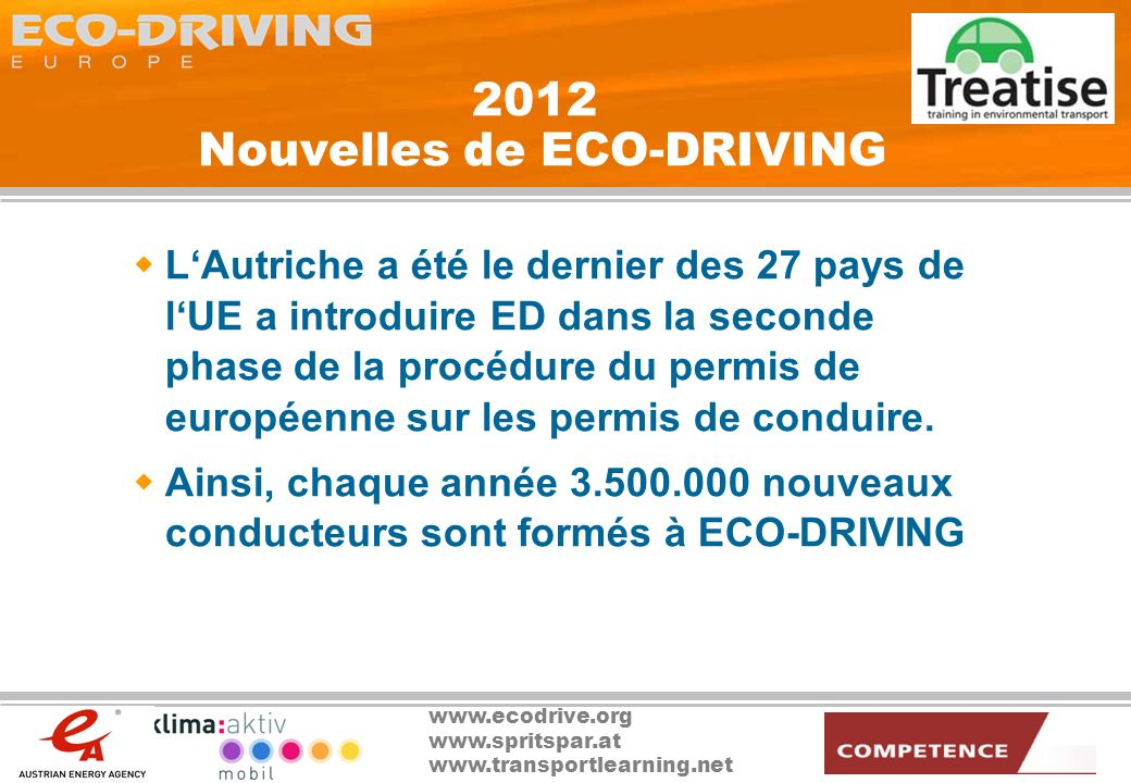 2012 Nouvelles de ECO-DRIVING