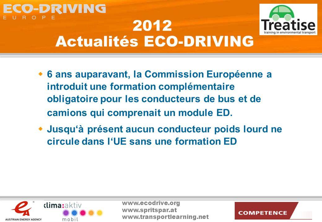 2012 Actualités ECO-DRIVING